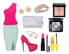 """""""Glamour style"""" by sheikha-n-alzaabi on Polyvore featuring Roland Mouret, Ted Baker, Mixit, Michael Kors, Lola Rose, Bobbi Brown Cosmetics, Christian Dior, Maybelline, Givenchy and Smashbox"""