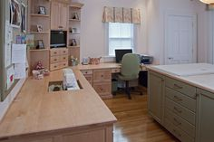 Custom Made Natural Maple Sewing Room