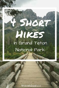 4 Best Short Hikes in Grand Teton National Park 4 Short Hikes in Grand Teton National Park. The best way to experience this Wyoming national park is on foot. So give these short hiking trails in Grand Teton National Park a try. Us National Parks, Grand Teton National Park, Yellowstone National Park, Monument Valley, Yellowstone Vacation, Best Hikes In Yellowstone, Wyoming Vacation, West Yellowstone, Jackson Hole Wyoming