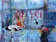 """""""internal reboot"""" art journal spread (via by bun blog), artist: Roxanne Coble"""
