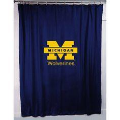 Sports Coverage Michigan Wolverines Shower Curtain Sportsshowercurtain