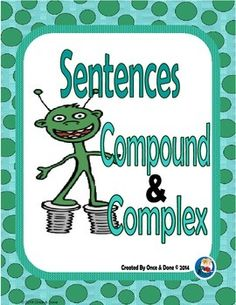 Compound, Complex Sentence Center Activity for small groups or independent work during guided reading. Students read a sentence and decide if it is a compound, or a complex sentence. Then students are prompted to write a few sentences.Includes;Title Page2 Task Pages (print front to back) I print 8 for independent work Recording SheetAnswer KeyDirections on how to assemble the centerThis product is also included in the Grammar Bundle, Unit 1Grammar Bundle Unit 1 How to get TPT credit to use…