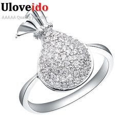Find More Rings Information about CZ Zircon Ring Fashion/Cute Micro Pave Crystal Stone Ring for Woman Wedding Jewelry Birthday Gifts Wholesale Uaib J089,High Quality bag clip,China bags targus Suppliers, Cheap bag body from ULOVE No.2 Fashion Jewelry Store  on Aliexpress.com