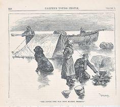 Newfoundland dog antique print