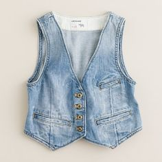 Girls' cowgirl denim vest, with a floral dress and cowgirl boots CUTE