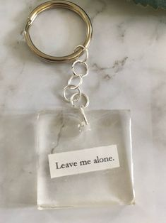 Antisocial keychain leave me alone print in resin clear Diy Resin Art, Diy Resin Crafts, Crafts To Sell, Epoxy Resin Art, Diy Resin Keychain, Keychain Ideas, Acrylic Keychains, Cute Car Accessories, Diy Epoxy