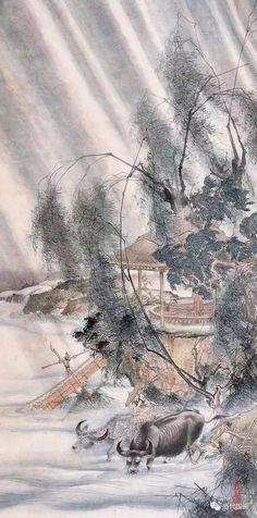 Chinese Artwork, Chinese Painting, Korean Art, Asian Art, Chinese Brush, Oriental, Creative Colour, Vintage Art, Illustration