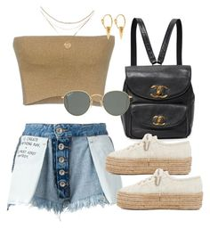 """""""Unbenannt #632"""" by vanileeeeeeen ❤ liked on Polyvore featuring Dries Van Noten, Unravel, Superga, Ray-Ban and I+I"""