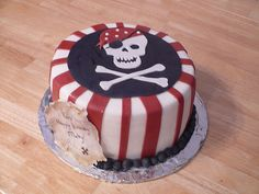 Pirate Cake for Calums 1st birthday!