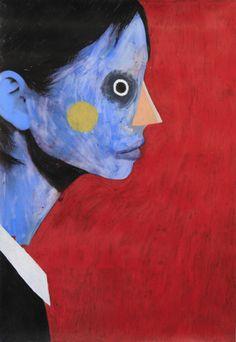 Guim Tió Zarraluki Face 2 - 2013 Mixed media on poster x Mixed Media, Faces, Poster, Painting, Art, Painting Art, Mixed Media Art, Face, Paintings