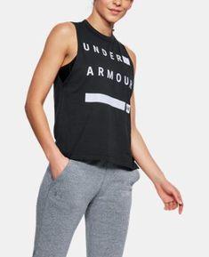 f5edb1b649c9e2 Women s UA Linear Wordmark Muscle Tank 5 Colors Available  30  http   shopstyle.