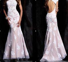 New lace mermaid wedding dress lace mermaid Prom / by VEILDRESS, $159.00