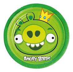 Talerzyki papierowe Angry Birds
