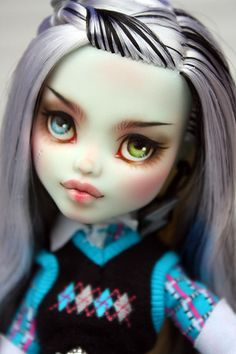 Monster High Frankie Stein Repaint OOAK Custom Doll   eBay