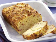 Golden, fluffy and packed full of crispy bacon pieces, this delicious cheesy loaf is perfect served sliced and enjoyed as a snack for afternoon tea or as a light lunch.