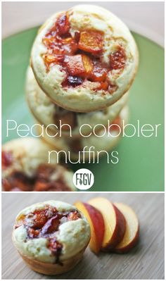 Fresh peaches baked into muffins? Sounds like a scrumptious breakfast! #Recipe #IsraeliKitchen
