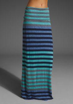 Shop for Splendid Gradient Stripe Maxi Skirt in Harbor at REVOLVE. Modest Dresses, Modest Outfits, Modest Fashion, Cute Outfits, Fashion Outfits, Women's Fashion, Maxi Skirt Outfits, Striped Maxi Skirts, Dress Skirt