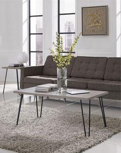 ICYMI: Industrial Coffee Table Rustic Wood Metal Home Living Room Vintage Gray