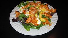 Guiltless Buffalo Chicken Salad...Should work with my Weight Wathcers Diet Plan.
