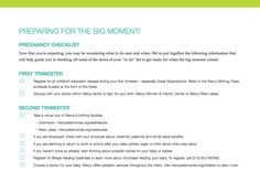"Printable ""Preparing for the Big Moment"" Checklist"