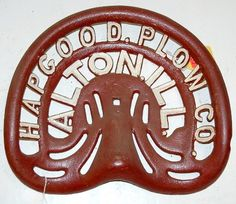 Hapgood Plow Company, Alton, IL.  Implement seat.