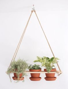 Creative DIY Planters - DIY Hanging Planter - Best Do It Yourself Planters and Crafts You Can Make For Your Plants - Indoor and Outdoor Gardening Ideas - Cool Modern and Rustic Home and Room Decor for Planting With Step by Step Tutorials http://diyjoy.com/diy-planters