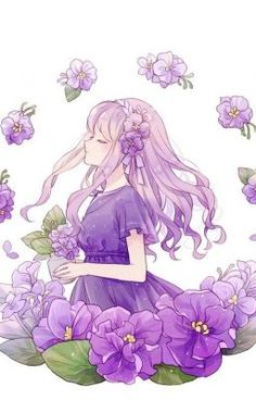Hottest Absolutely Free hoa Violet Suggestions With their splendidly designed unclear results in, their compact design and their bright, beautiful Anime Chibi, Manga Anime Girl, Anime Girl Drawings, Beautiful Anime Girl, Kawaii Drawings, Kawaii Anime Girl, Pretty Anime Girl, Cute Drawings, Anime Girls