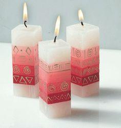 Como pintar uma vela