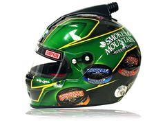 Really like the way @SmokeySnuff new helmet turned out  @simpsonraceproducts  @jess_edgehill #TeamOffAxis #greenflake #carbonfiber by offaxispaint