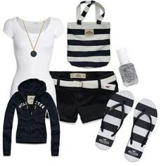 A fashion look from March 2012 featuring cotton t shirts, embroidered shorts and Hollister Co. Browse and shop related looks. Cute Fashion, Teen Fashion, Fashion Outfits, Womens Fashion, Fashion Styles, Spring Fashion, Latest Fashion, Fashion Ideas, Short Outfits