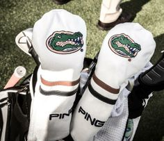 Ping Golf shared this shot of these Florida Gator headcovers, noting that Gator alumni Chris DiMarco and Billy Horschel are teaming up at the season-ending Franklin-Templeton Shootout.