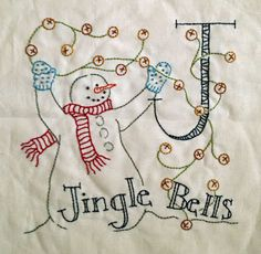Diary of a Quilt Maven. Snowman and jingle bells!