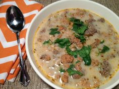 Chicken Sausage and White Bean Soup