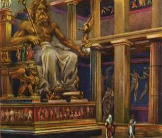 Artist's rendering of the lost statue of Zeus at Olympia