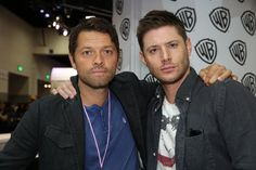 Jensen & Misha at #SDCC