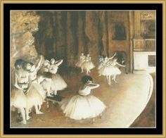 Ballet Rehersal On Stage - Degas [GM-67] - $16.00 : Mystic Stitch Inc, The fine art of counted cross stitch patterns