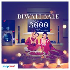 #Snapdeal Diwali Sale - Flat Rs. 3000 OFF on #Electronics! Grab this #deal & get FLAT Rs. 3000 OFF on electronic products like Mobile Phones, Laptops, Televisions, Refrigerator, Cameras, Tablets and much more. http://www.grabon.in/coupon-codes/?cid=5158
