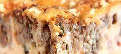 torta de carne moida com requeijao dukan