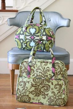 Amy Butler's Nigella Fabrics with The Sophia Carry All and The Weekender