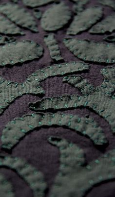Hand stitching detail on this Alabama Chanin piece