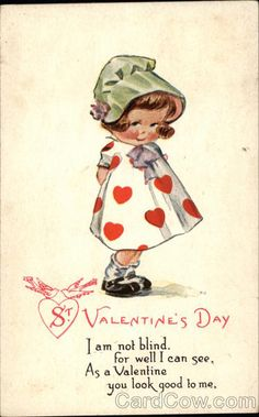 St. Valentine's Day - Artist: Charles Twelvetrees (Stamp: 1c ~ Postmark/Cancel: 1917 Feb-13 Glenburn, ND)