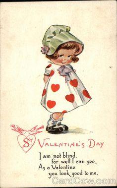 St. Valentine's Day - Artist: Charles Twelvetrees (Stamp: 1c ~ Postmark/Cancel: 1917 Feb-13 Glenburn, ND)