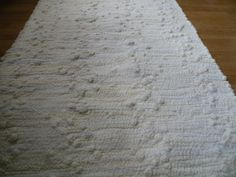 Vintage Rag Rug 46x21 carpet by Traincasesandmore on Etsy