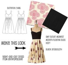 (via Make This Look: Night-and-Day Dress - The Sew Weekly Sewing Blog & Vintage Fashion Community)