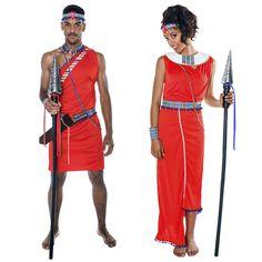 Déguisements Guerriers Kényens Masaï #déguisementscouples #nouveauté2016