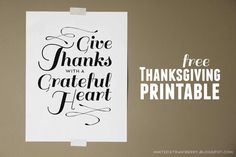 Free Thanksgiving Printable Poster @ mintedstrawberry.blogspot.com