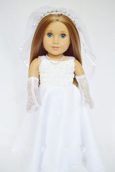 Brittany's - Wedding Gown for American Girl Dolls Gem Veil and Gloves, $29.99 (http://www.mybrittanys.com/18-inch-american-girl-doll-clothes/dresses/wedding-gowns/wedding-gown-for-american-girl-dolls-gem-veil-and-gloves/)