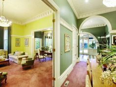 Image result for colorful victorian living rooms
