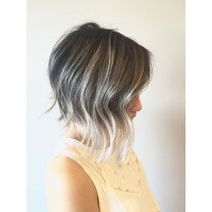 Contrasted foilayage and a textured razored bob. #Balayage #foilalayage #razorbob #razorcut #modernsalon #olaplex #wella #randco #shannonhairsalon #hairbymirna