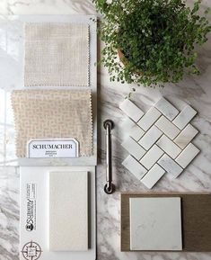 tiles Patterns Mood board inspiration with our Subway Ceramics subway tile. Brighten up your kitchen with blush tones and unique tile pattern. Patterned Kitchen Tiles, Mood Board Interior, Material Board, Mood And Tone, Ceramic Subway Tile, H Design, Dream House Plans, Color Tile, Tile Patterns
